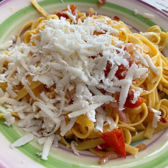 Fettuccine con guanciale e ricotta salata - Le Ricette CibUbi